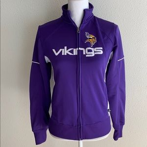 NFL Team Apparel Minnesota Vikings Zip Up Jacket